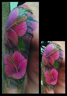 I'm not big on flower tatts, but the colors in this are gorgeous!!!!