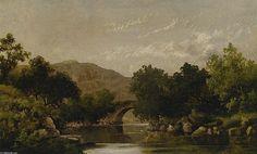 The Stone Bridge, Oil On Canvas by Robert Scott Duncanson (1821-1872, United States)