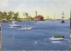 """""""Gloucester Harbor"""" - © Mary Pyche - in Gloucester, Fine Art Gallery, Mary, The Originals, Artist, Painting, Painting Art, Paint"""