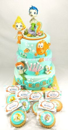 BUBBLE GUPPIES - by tortediivana @ CakesDecor.com - cake decorating website
