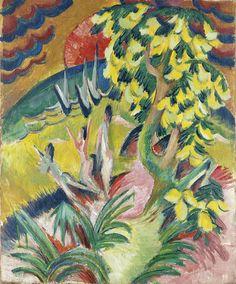 Ernst Ludwig Kirchner. La cala. 1913.