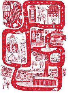 Limited Edition Central London Art Print from Hunter Jones | Made By Kiosk Berlin for Hunter Jones | £39.00 | BOUF