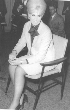 Dusty at Heathrow waiting to be interviewed by the press on her return from South Africa in December 1964
