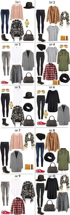 10 Days in New Zealand packing list #traveloutfits