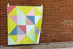 With the Summertime Scrappy Star Quilt Pattern, it won't take you long to discover just how quick quilts can be!