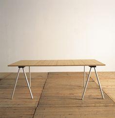 Maarten van Severen; threstle table for Bulo (Belgium); essence and poetry in one design