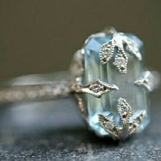 Antique aquamarine I am not a fan of aquamarine and it's my birthstone, but I love this ring!  Who wants to get it for me?!