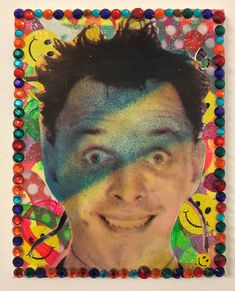 Disco Rik by Barrie J Davies 2020 University Of Wales, Milford Haven, Brighton England, Fine Arts Degree, Human Condition, Mixed Media Canvas, Art Paintings, Psychedelic, Pop Art