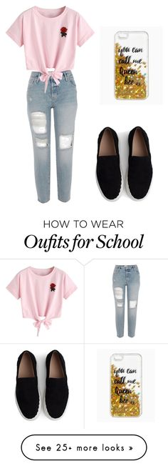 """Back To School Series"" by ememlove22 on Polyvore featuring WithChic, Chloé and Queen Bee"
