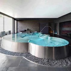 Stock Tank Swimming Pool Ideas, Get Swimming pool designs featuring new swimming pool ideas like glass wall swimming pools, infinity swimming pools, indoor pools and Mid Century Modern Pools. Find and save ideas about Swimming pool designs. Indoor Pools, Indoor Swimming, Swimming Pools, Indoor Jacuzzi, Lap Pools, Backyard Pools, Pool Landscaping, Jacuzzi Room, Jacuzzi Bath