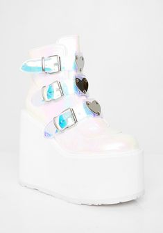 Kawaii Shoes, Kawaii Clothes, Half Shoes, Me Too Shoes, Platform Boots, Platform Sneakers, Wedge Boots, Heeled Boots, Goth Shoes