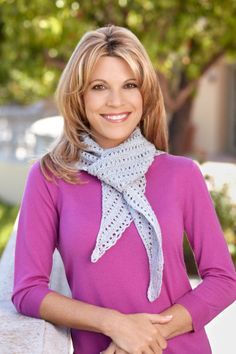 Sweetheart Shawl --- I just love how simply beautiful Vanna is!!!  Love her look!!!