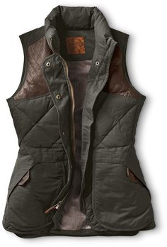 1936 Skyliner Hunting Model Vest | A truly functional outdoors vest, with universal appeal. A remake of our patented, all-around original Skyliner, but specifically designed for, and fit to, women.