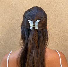 SUMMER BUNS - WHITE BUTTERFLY HAIR CLIP