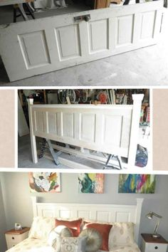 Ideas diy furniture headboard old doors for 2019 Furniture Projects, Home Projects, Diy Furniture, Rustic Furniture, Furniture Design, Antique Furniture, Furniture Cleaning, Outdoor Furniture, Furniture Online