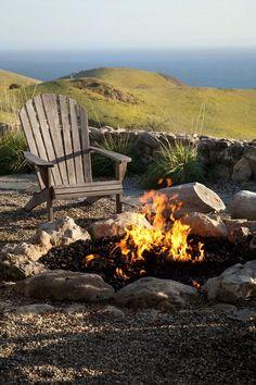 Fire Pit Grace Design Associates, Landscape Design and Build