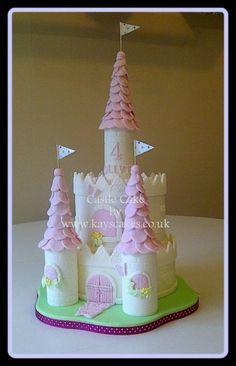 Castle Cake - by kayscakes @ CakesDecor.com - cake decorating website