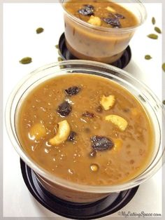 Wheat Pudding is a healthy dessert from Kerala. This is made with broken or cracked wheat, jaggery and coconut milk flavored with cardamom and dry ginger. Egg Free Desserts, Indian Desserts, Sweet Desserts, Indian Food Recipes, Sweet Recipes, Snack Recipes, Cooking Recipes, Kerala Recipes, Indian Sweets
