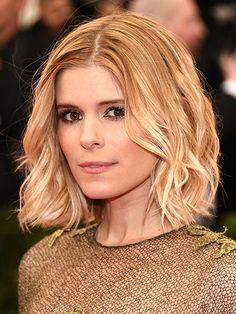 Lob: Undone Curls on Kate Mara