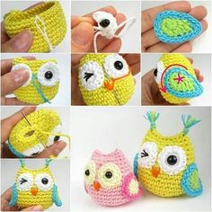 Crochet Amigurumi Ideas - You'll love this Crochet Baby Owls Pattern Video and we have so many great ideas that you won't be able to decide which to start with first! Diy Crochet Owl, Owl Crochet Patterns, Crochet Amigurumi, Owl Patterns, Love Crochet, Crochet Crafts, Crochet Projects, Knitting Patterns, Knit Crochet