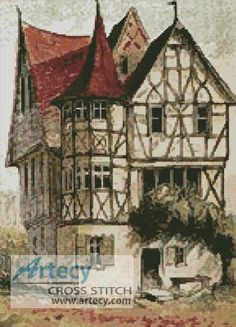 Tudor Home Cross Stitch Pattern http://www.artecyshop.com/index.php?main_page=product_info&cPath=10&products_id=621