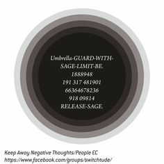 """Keep Away Negative Thoughts/People EC  """"Be Deaf to negative thoughts/people. If your aim is to reach your goal"""".  How to use: 1. Print, Laminate. 2. Chant, Sing. 3. Write on your left hand with blue ink. 4. Carry in your purse/wallet/pocket facing your body."""