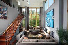 Living room: by Susan Fredman Design Group #decoración