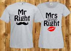 Hey, I found this really awesome Etsy listing at https://www.etsy.com/uk/listing/264260060/valentines-couple-outfit-mr-right-t