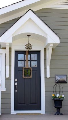 exterior paint color Crownsville Gray HC-106 by Benjamin Moore by Raelynn8