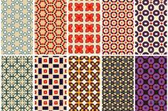 Check out 10 retro patterns by LucyYa on Creative Market