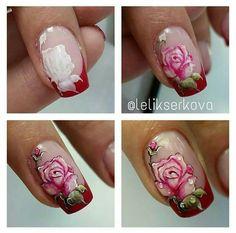 You don't need to choose the same nail art patterns over and over again. Nail Art Fleur, Rose Nail Art, Floral Nail Art, Gel Nail Art, Nail Designs Spring, Nail Art Designs, Hello Nails, Nail Ink, Animal Nail Art
