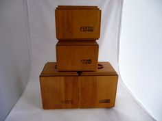 Retro Wooden Canister Set By Baribomaid Saltofmotherearth On Etsy Vintage Kitchen