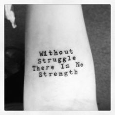 I love motivating quotes as tattoos