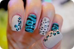 Animal Print Mix Nails by Jess
