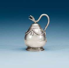 A RUSSIAN EARLY 20TH CENTURY FABERGÉ SILVER BURNER, MARKS OF THE FIRST SILVER ARTEL, S:T PETERSBURG 1908-1917.