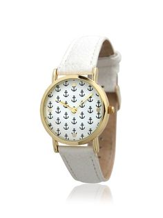 Olivia Pratt Women's 1261318 Mini Anchor White Leather Watch, http://www.myhabit.com/redirect/ref=qd_sw_dp_pi_li?url=http%3A%2F%2Fwww.myhabit.com%2Fdp%2FB00M0YDW9K