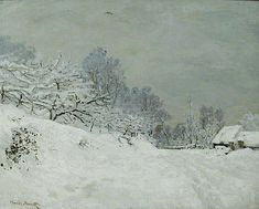 This is an educational art history video exploring Claude Monet's Snow near Honfleur. It examines Monet's plein air depiction of snow as part his method of N. Claude Monet, Monet Paintings, Landscape Paintings, Landscapes, Artist Monet, Honfleur, Painting Snow, Painting Canvas, Winter Painting