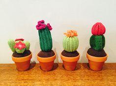 Gehaakte cactussen! Simpel patroontje, maar direct groen in huis!