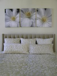 Clematis Series Over A King Size Bed Each Piece Measures 24 X30