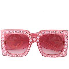 33a4dd431a Gucci Eyewear Hollywood Forever crystal embellished oversized... ( 1