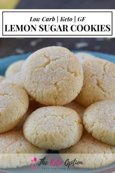 French Delicacies Essentials - Some Uncomplicated Strategies For Newbies Keto Lemon Sugar Cookies Enjoy These Tasty Low Carb Sugar Cookies With A Hint Of Lemon Keto Cookie Recipe Low Carb Dessert Visit Healthy Low Carb Recipes, Low Carb Dinner Recipes, Ketogenic Recipes, Low Carb Keto, Keto Recipes, Ketogenic Diet, Pasta Recipes, Ketogenic Breakfast, Keto Fat