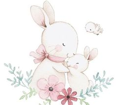 From dear Annie The post From dear Annie 💖 appeared first on Best Pins for Yours - Drawing Ideas Animal Drawings, Cute Drawings, Easter Drawings, Watercolor Flowers, Watercolor Art, Scrapbooking Image, Bunny Drawing, Bunny Party, Baby Painting