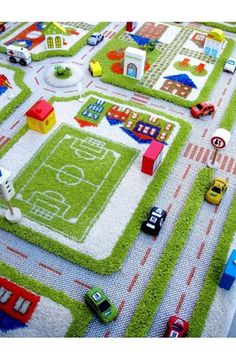City view. Time to play. AMAZING Re-Life Rug for a playroom.