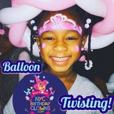 NYC Birthday Clowns: New Yorks favorite kids party entertainment! We come to you with two entertainers face painting balloon twisting cotton candy music magic & more. NYCBirthdayClowns.com Birthday Clown, Clown Party, Ballon Animals, Balloon Painting, Love My Kids, Party Entertainment, For Everyone, Number One, Balloons