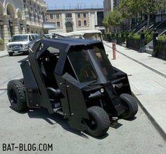 "The famous ""Tumbler"" Batmobile golf cart."