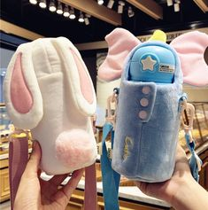 Cute Rabbit and Unicorn Vacuum Bottle Daddys Little Princess, Baby Guinea Pigs, Disney Cups, Cute Water Bottles, Baby Pink Aesthetic, Baby Girl Toys, Kawaii Room, Cute School Supplies, Cute Room Decor