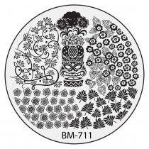 Bundle Monster Nail Stamping Plate 2015 Secret Garden Collection - BM711: Sneaky Tiki