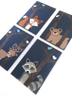 Boy Nursery Themes, Fox Nursery, Animal Nursery, Nursery Wall Art, Nursery Ideas, Themed Nursery, Hunting Nursery, Kids Canvas, Baby Room Art
