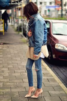 denim trend: frayed hems // maja wyh