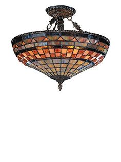 www.myhabit.com  Geometric stained glass design adds a bold look to any space; hardwire, uses (3) 75-watt medium bulbs